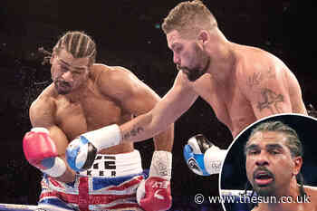 David Haye understood his boxing career was finished 35 seconds into his rematch against Tony Bellew - The Sun