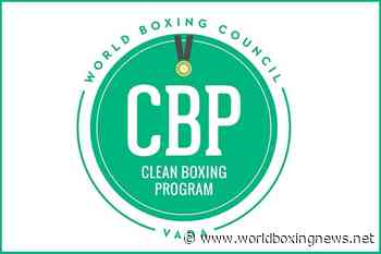 Boxers urged to sign up to World Boxing Council Clean Boxing Program - WBN - World Boxing News