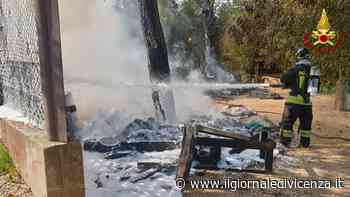 Roulotte in fiamme lungo la ciclabile A bordo bombole gpl - Il Giornale di Vicenza