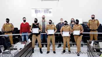 Soldados da Polícia Militar são homenageados na Câmara de Cianorte - Folha De Cianorte