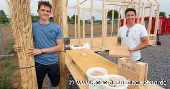 Schilfplatten füllen das Fachwerk: Alanus-Studenten bauen nachhaltiges Haus in Meckenheim - General-Anzeiger Bonn