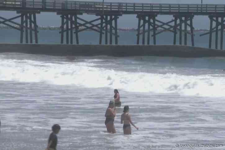 Residents Come Out To Enjoy The Sun In Seal Beach After July 4th Closures
