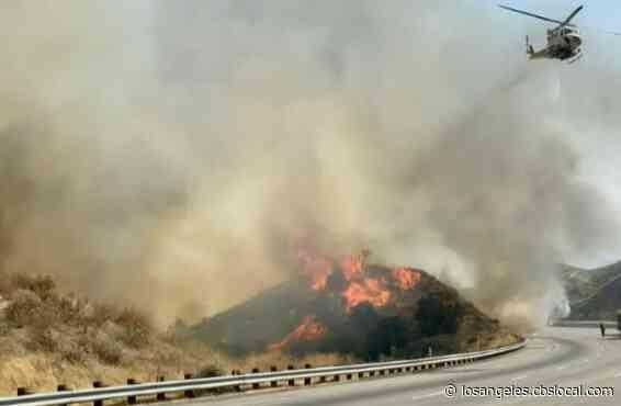 Soledad Fire Near Santa Clarita Threatening Homes, Evacuations Ordered