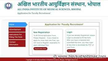 AIIMS Bhopal Recruitment 2020: 155 teaching vacancies on offer, apply before August 17 - Hindustan Times