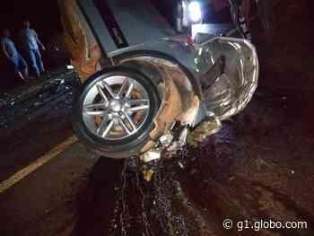Acidente entre Igarapava, SP, e Delta, MG, mata homem e deixa mulheres gravemente feridas - G1
