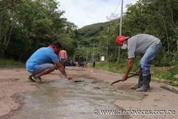 Pobladores de Jepelacio ejecutan mantenimiento a carretera - Diario Voces