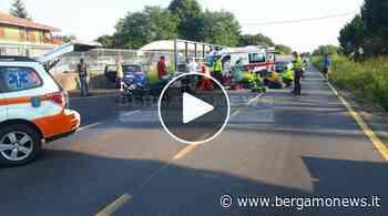 Scontro auto-moto lungo la Villa d'Almè-Dalmine: 4 feriti - BergamoNews.it