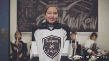 Norquay Knights hockey team gets a lesson in Cree words for the game - APTN News