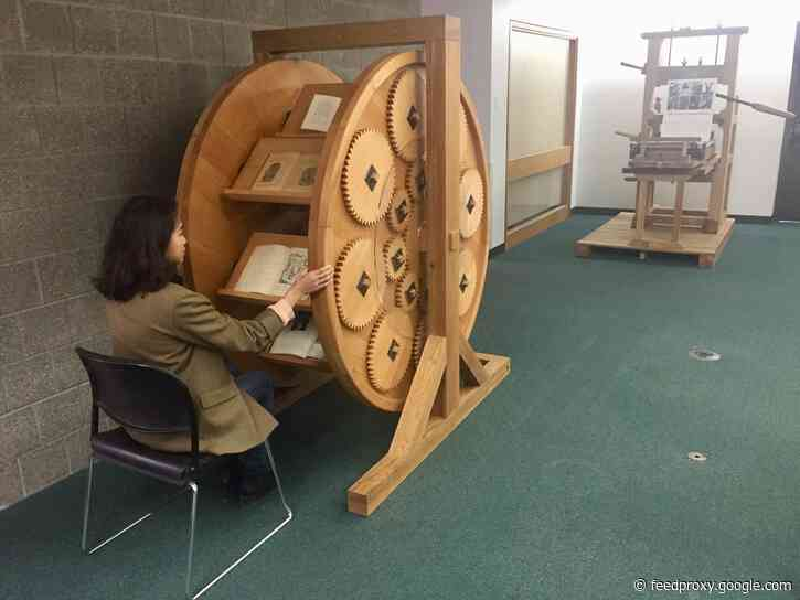 16th Century Bookwheels, the E-Readers of the Renaissance, Get Brought to Life by 21st Century Designers