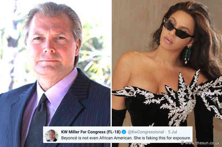 Beyonce is FAKING being African American and is really Italian, Congress candidate KW Miller bizarrely claims