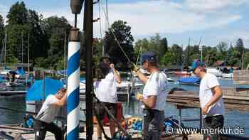 Seltener Venezianerpfahl im Starnberger See ausgetauscht: So arbeiten die Spezial-Handwerker - merkur.de