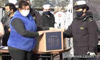 Importante donación de alimentos en campamento de Talcahuano | Noticias - Canal 9 Bío Bío Televisión