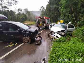 Cinco pessoas ficam feridas em acidente na BR 262 em Domingos Martins - ES Hoje