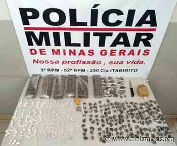 Polícia apreende 106 pedras de crack e outras drogas em Itabirito - Mais Minas
