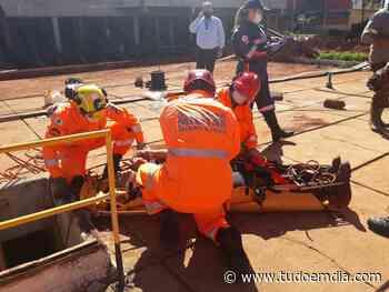Bombeiros resgatam vítima que caiu de escada dentro de reservatório de água em Ituiutaba - Tudo Em Dia