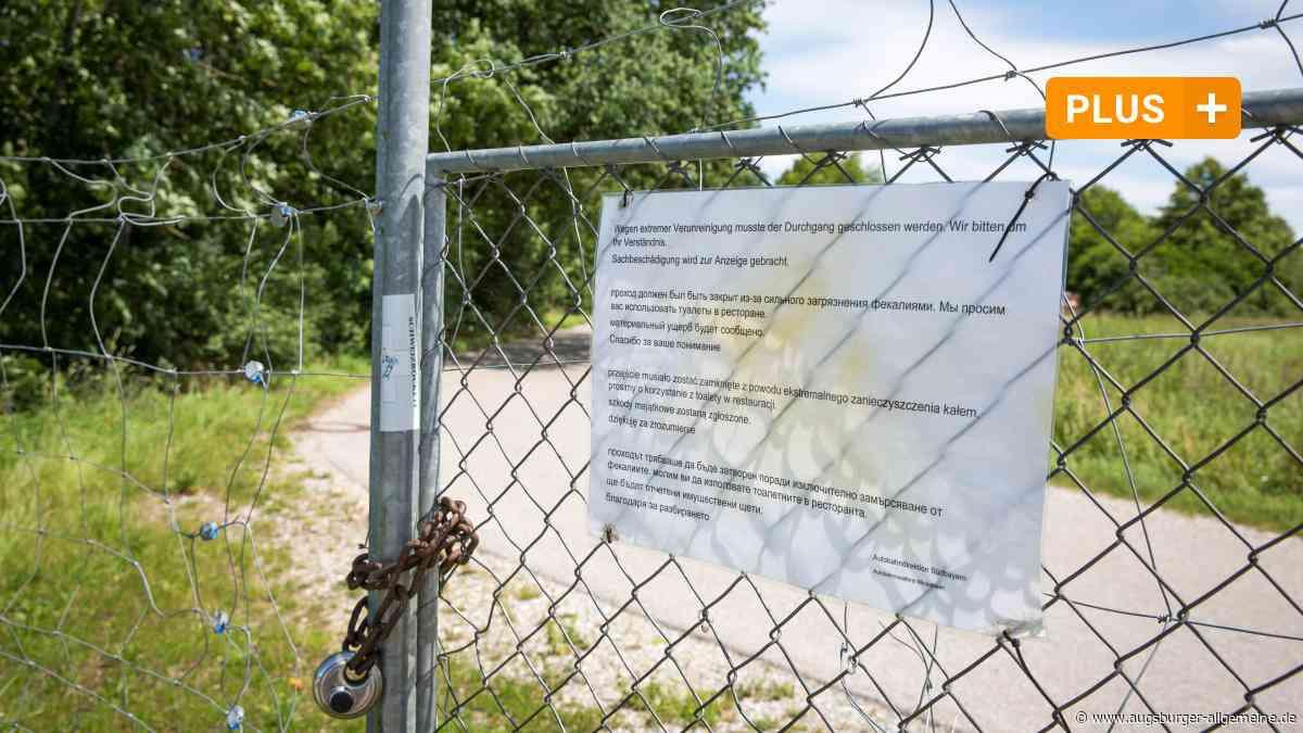 Ärger über Kot und Unrat neben der Landsberger A96-Rastanlage