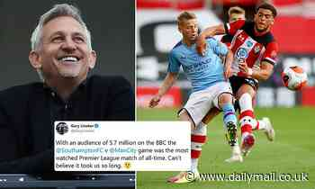 Southampton's shock win over Man City becomes most-watched Premier League game of ALL TIME