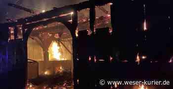 Bauernhaus steht in Flammen - WESER-KURIER