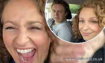Nadia Sawalha and husband vlog first post-lockdown date night