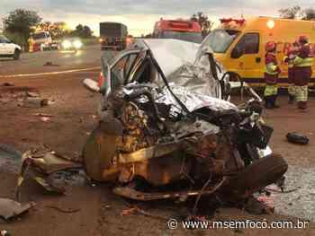 Casal morre em acidente na BR 163 em Nova Alvorada do Sul - MS em Foco