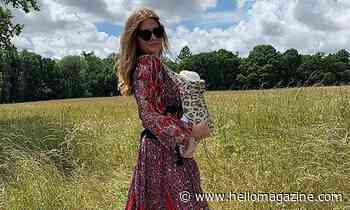 Millie Mackintosh takes baby Sienna on first trip – but her £682 baby sling gets all the attention