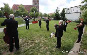 Konzertorchester: Musiker feiern Jubiläum mit Flashmob in Eberswalde - Märkische Onlinezeitung