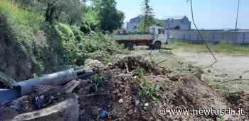 Amelia, iniziati lavori ripulitura e bonifica area adiacente ex cantiere variante 205 Amerina   - NewTuscia