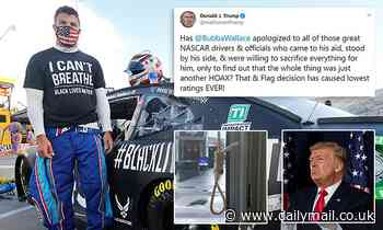 Donald Trump attacks NASCAR star Bubba Wallace over noose