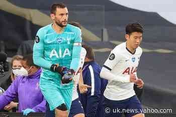 Tottenham duo Heung-min Son and Hugo Lloris separated by team-mates after heated row during Everton clash
