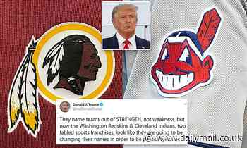Trump opposes renaming Washington Redskins, Cleveland Indians