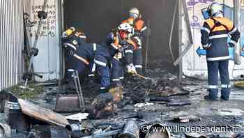 Narbonne : feu dans un bâtiment désaffecté derrière Géant - L'Indépendant