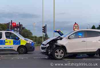 Thamesdown Drive in Swindon partially blocked following two car crash - Wiltshire 999s