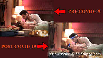 Funny pic! Aparshakti Khurana shows how romantic scenes will be shot in the post-COVID-19 era - Times of India