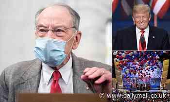 Senior Republican senator Chuck Grassley says he will NOT go to convention because of coronavirus