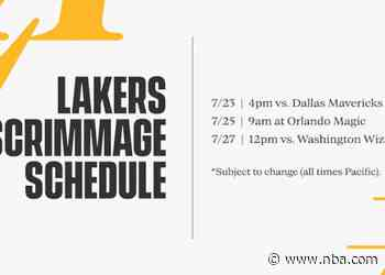 Lakers Season Restart Scrimmage Schedule