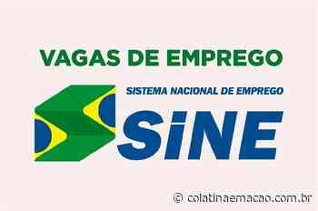 Veja as vagas de emprego do Sine Colatina para 6 de julho, inscrições são apenas pela web - Colatina em Ação
