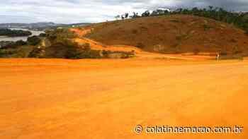 Asfalto da ES-446 que liga Colatina a Itaguaçu está bem adiantada - Colatina em Ação