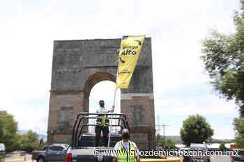 Ante Bandera Amarilla, refuerzan labores preventivas contra COVID-19 en Zacapu - La Voz de Michoacán