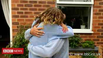 Derby family reunited after months of shielding