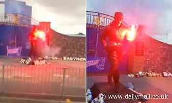 Everton confirm 'no permanent damage' has been done to Dean statue after footage emerged