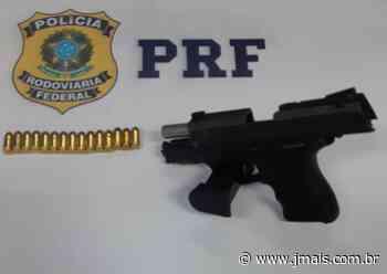 PRF apreende pistola Taurus durante fiscalização na BR 116, em Mafra - JMais