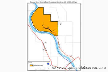 Evacuation alert issued for three properties on Garvin Road, southeast of Quesnel - Quesnel Cariboo Observer