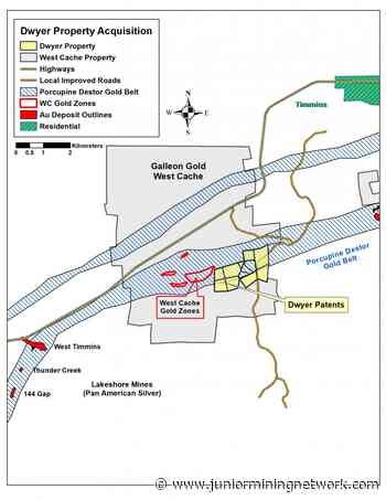 Galleon Gold Expands Land Position at West Cache Gold Project, Timmins Ontario and Provides Corporate Update - Junior Mining Network
