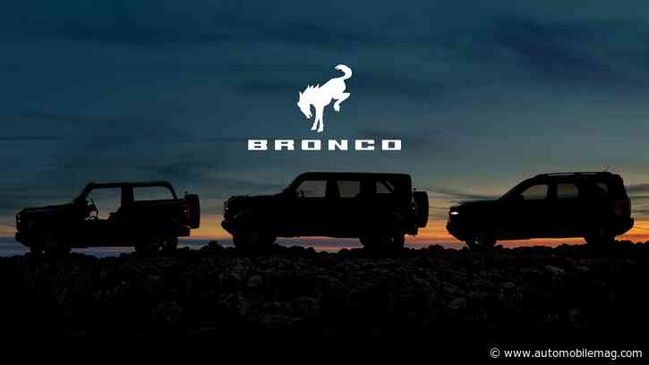 Bronco Brand: Ford Will Market Off-Road SUVs Under Iconic Name