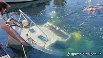 Trieste, barca affonda in Sacchetta, recuperata dai sommozzatori - Il Piccolo