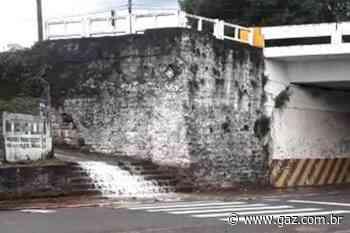 VÍDEO: vazamento de água gera cascata em escadaria em Santa Cruz - GAZ