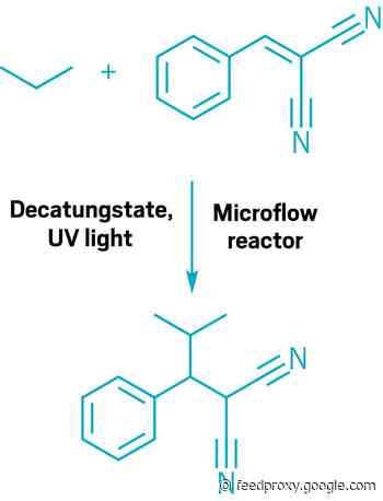 Photocatalysis in flow functionalizes light hydrocarbons