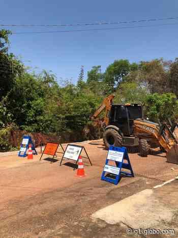 Gurupi terá interdição de ruas e avenidas para obras na rede de esgoto - G1