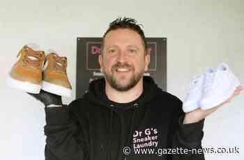 Colchester trainer restorer's designs endorsed by Robbie Williams - Gazette