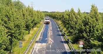 Bauarbeiten in Niederkassel: Arbeiter beseitigen Wellen auf der neuen L 269n - General-Anzeiger Bonn